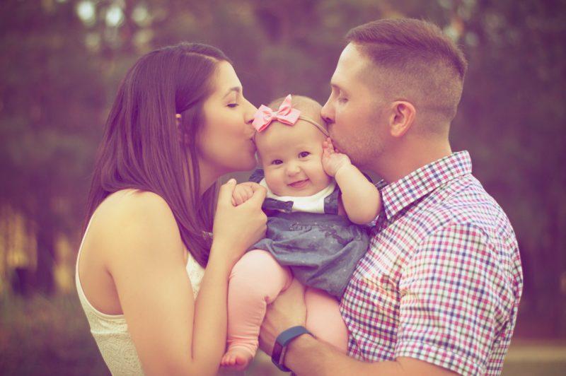 Familienfoto mit Baby Fotoipp weiches Licht