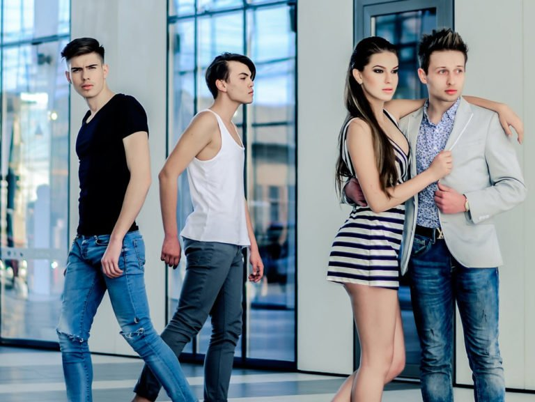 Go-See Models an einem Casting