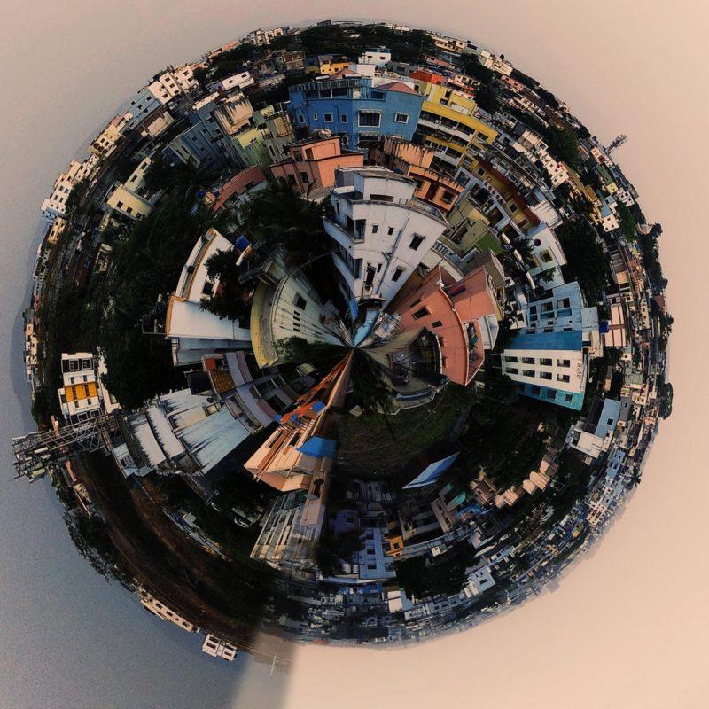 kreative fotoideen globus panorama