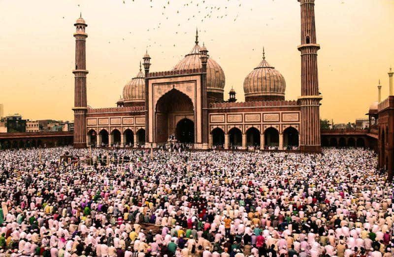 Moschee viele Menschen Fototipp Variation