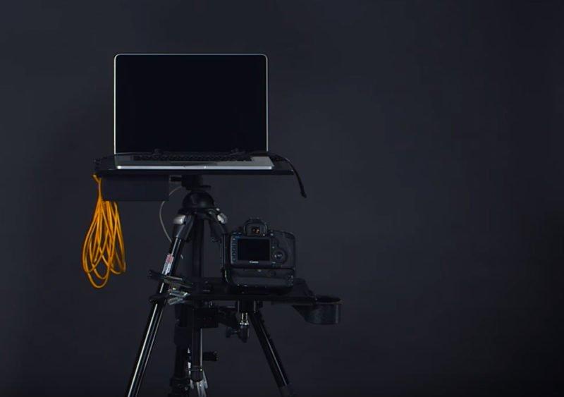 Tethered shooting Kamera, Laptop, Kabel und Software.
