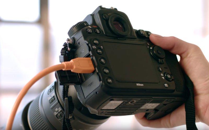 Kamera verbunden mit Laptop