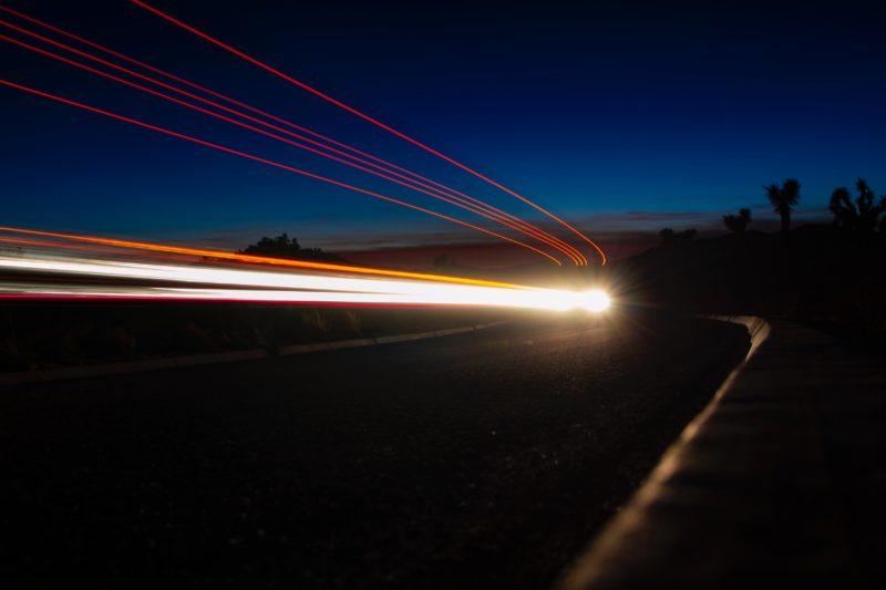 Lichtmalerei Bewegung