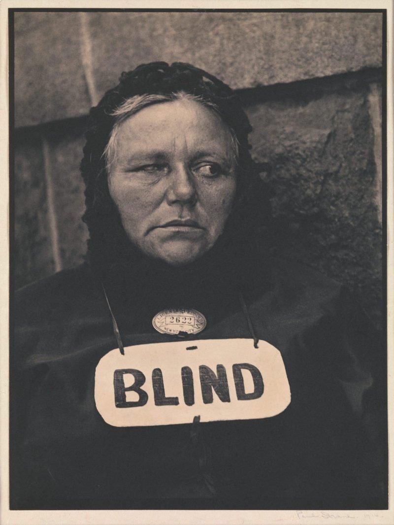 beruehmte fotos blinde frau im portrait