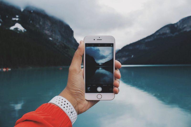panorama foto app iphone nimmt huegellandschaft auf