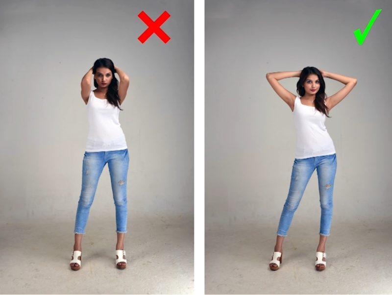 Model Posen - Gute und schlechte Standpose