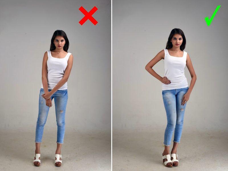 Model Posen - Gerade Standpose für Frauen