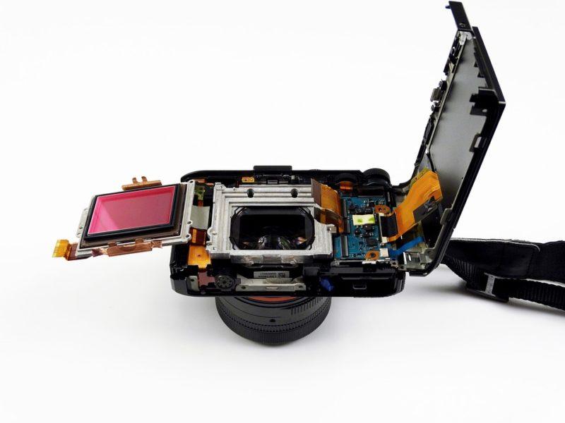 Sensorreinigung Innere der Kamera
