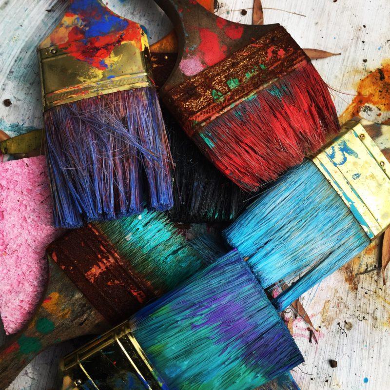 verschiedene farbpinsel