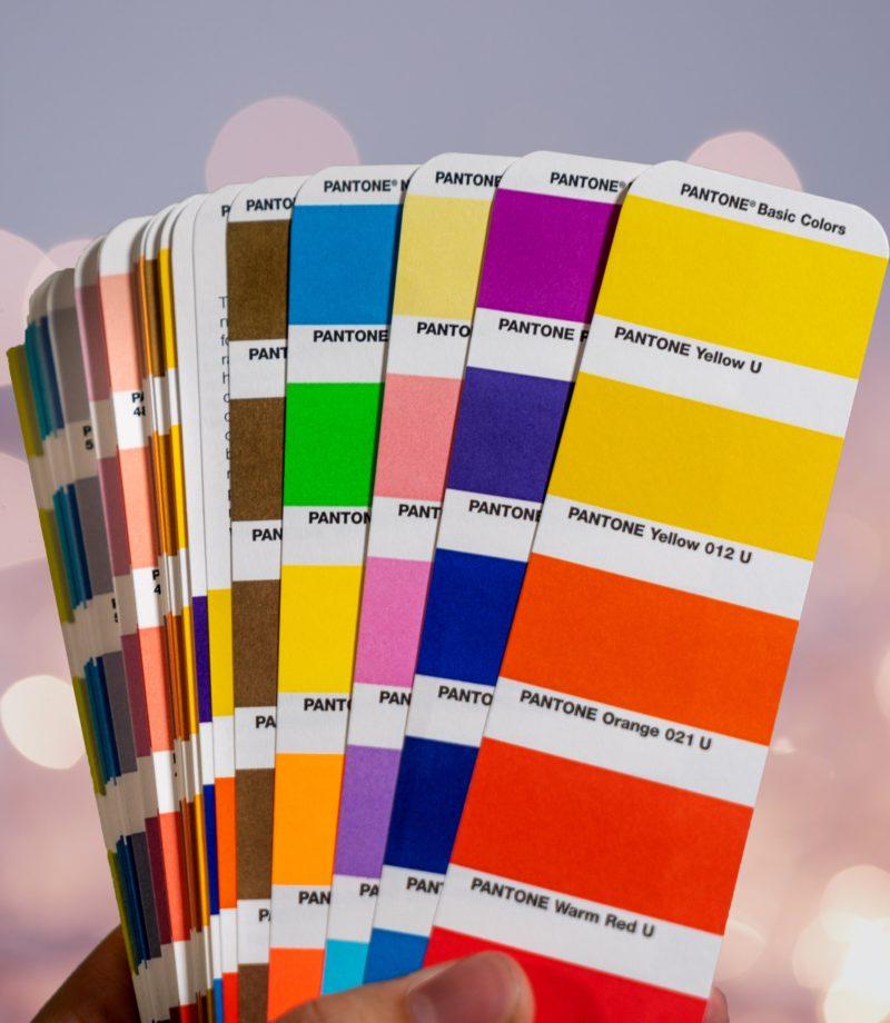 farbräume pantone palette