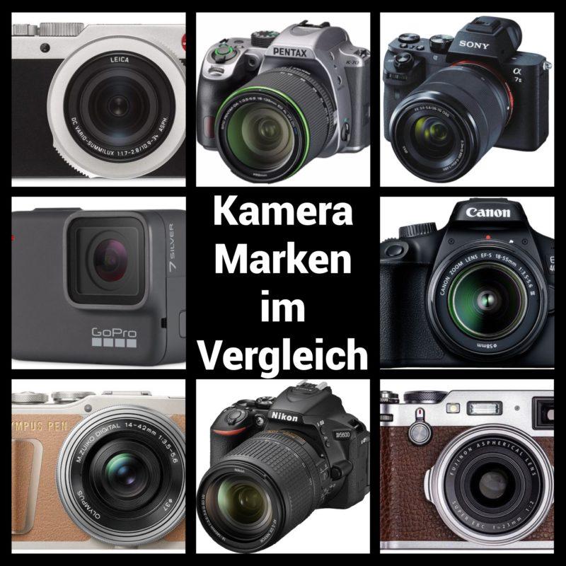 Kamerahersteller im Vergleich