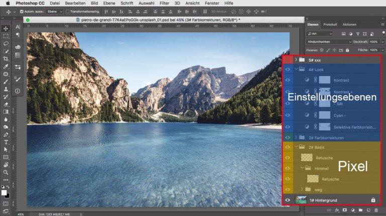 Photoshop Aufbau Datei