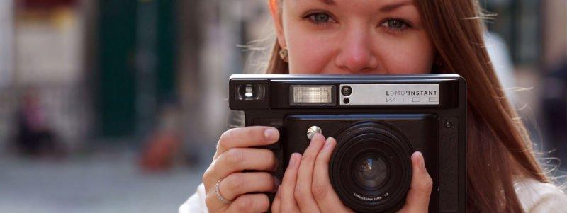 beste polaroid kamera Lomo'Instant WIDE