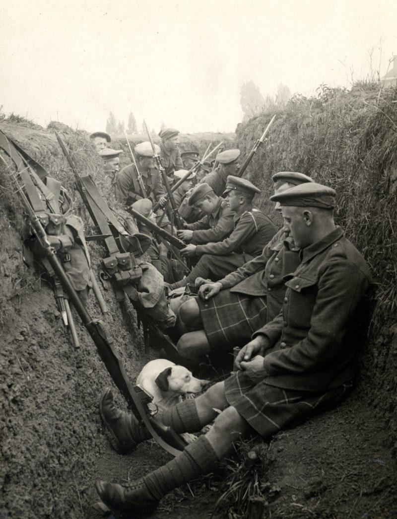 1. weltkrieg aufnahme aus dem graben