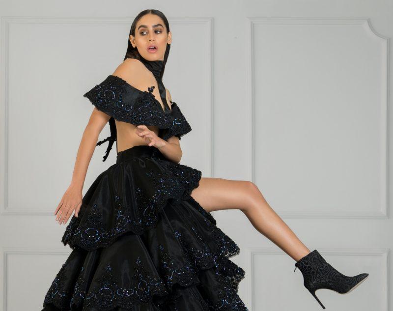 fashion model am posieren