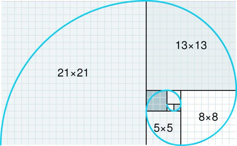 fibonacci Spirale Vorlage