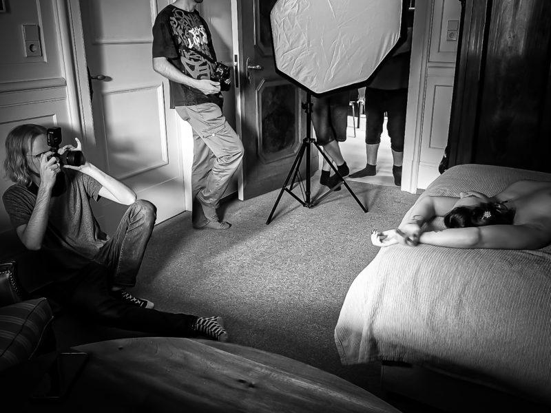 waehrend dem fotografie workshop model shooting