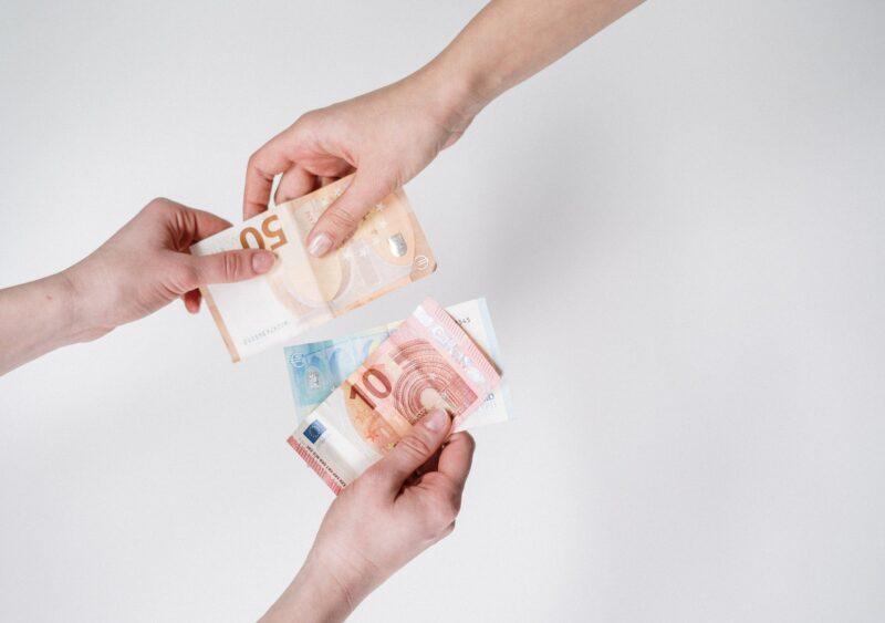 Euro Austausch Finanza,t und Fotograf