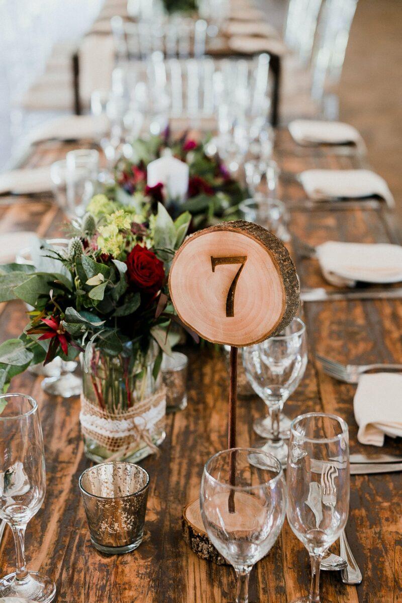 Hochzeitsempfang Tischdeko