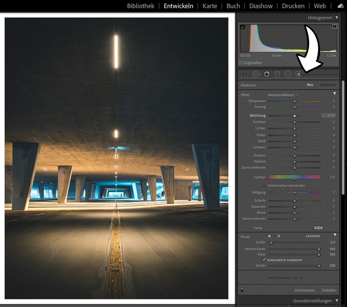 Dodge and Burn in Lightroom - Das Pinsel Tool