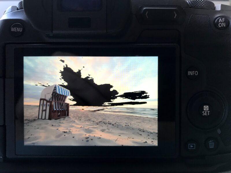 ETTR: die Überbelichtigungswarnung der Kamera ist ein praktisches Tool.