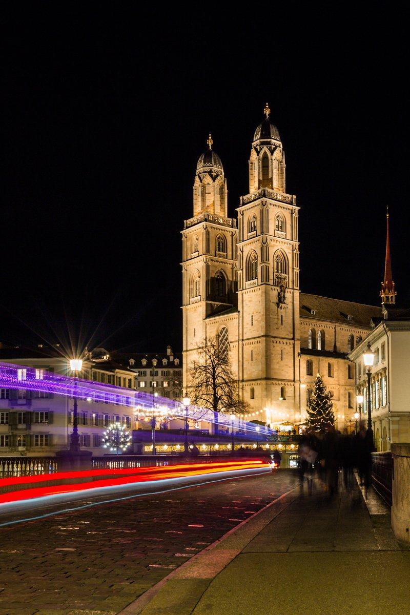 Großmünster Zürich Nachtfotografie