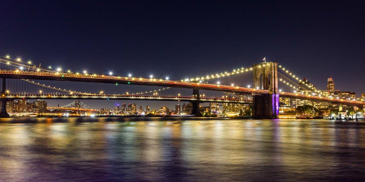 Nachtfotografie Brooklyn Bridge