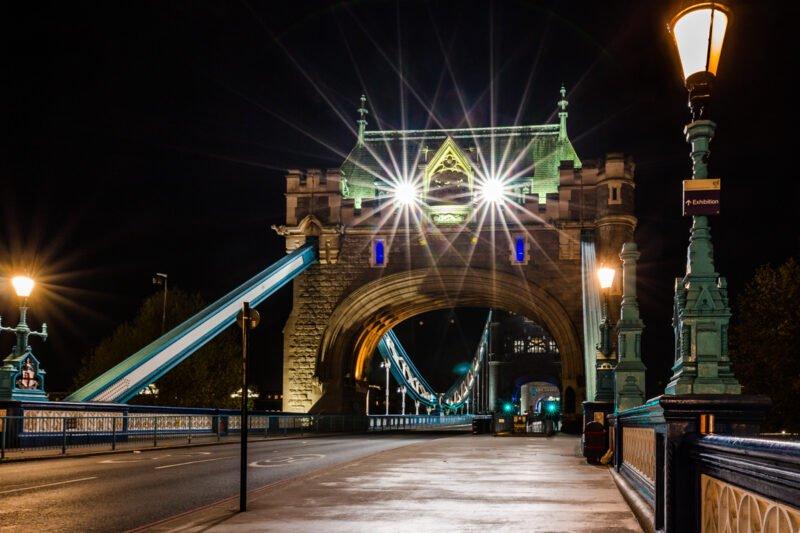 Nachtfotografie Tower Bridge