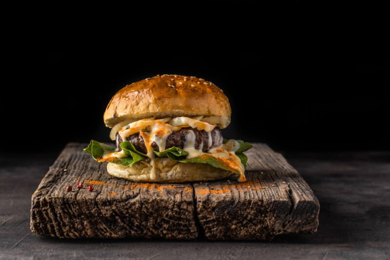 Foodfotografie Low-Key Burger