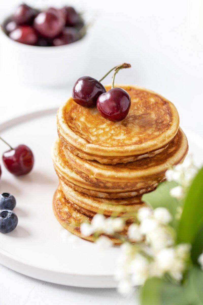 High-Key Fotografie Pancakes