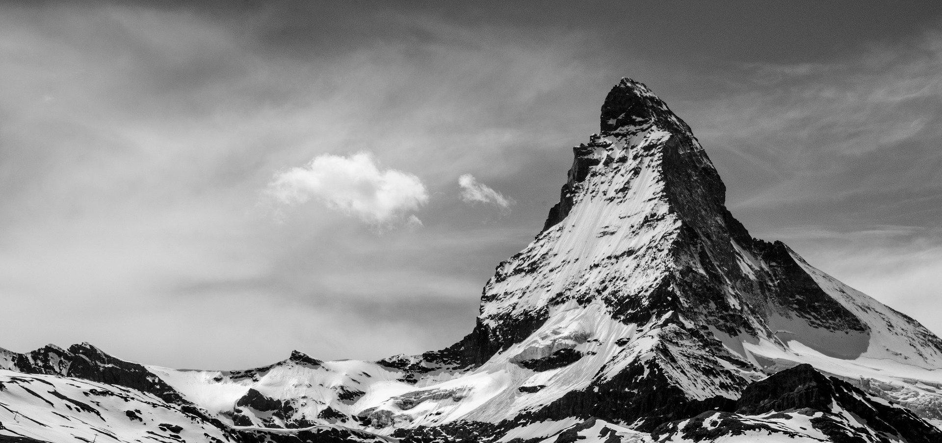 Matterhorn schwarzweiß