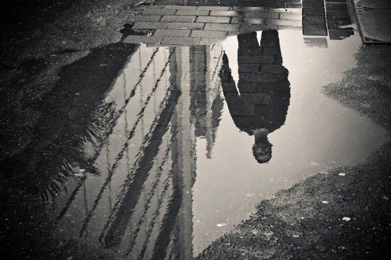 Pfütze Spiegelung
